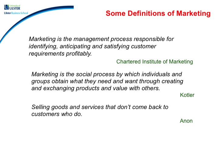 chartered institute of marketing definition